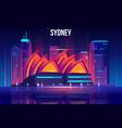 sydney cityscape cartoon background vector image vector image