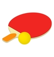 Table tennis isometric 3d icon vector image vector image