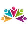 teamwork symbol silhouette icon vector image vector image