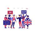 united kingdom brexit banner vector image vector image