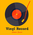 vinyl record music with yellow background graphic vector image vector image
