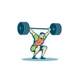 Weightlifter Lifting Barbell Retro vector image vector image
