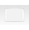 white tablet computer isolated on vector image vector image
