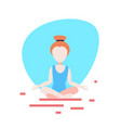 woman doing yoga exercises lotus white background vector image vector image