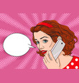 young pretty woman is talking by the phone vector image vector image