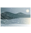 Landscape in cold and dark winter vector image