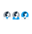 Doctor side view man turned head medical worker vector image