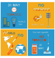 31 may world no tobacco day last cigarette posters vector image vector image