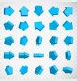 3d isometric arrow icons with various vector image