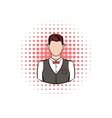 A man in white shirt black waistcoat vector image vector image