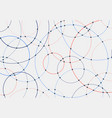 abstract blue and red circles lines round overlay vector image vector image