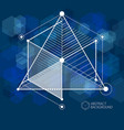 abstract creative geometric art with a variety of vector image vector image