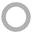 abstract round meander circular geometric vector image vector image