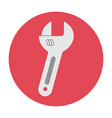 adjustable wrench icon vector image