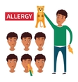Allergy symptoms information vector image