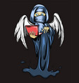 angel death is holding laptop vector image