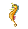 Bright Orange Seahorse vector image