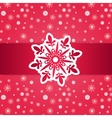 Christmas Frame Over Seamless Pattern vector image vector image