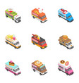 city service icons set isometric style vector image