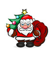 classic santa in red suit vector image