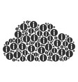 cloud figure of info icons vector image vector image