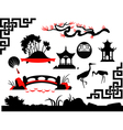 Collection of asian garden vector | Price: 1 Credit (USD $1)