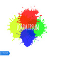 Colorful Paint Splats vector image vector image