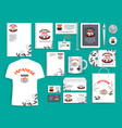 corporate identity items for japanese sushi vector image vector image