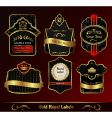 decorative dark gold frames labels vector image