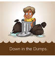 Down in the dumps vector image