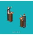 Election debates flat isometric vector image