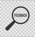 feedback word magnifying glass vector image