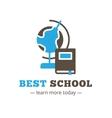 flat style education logo Study logotype vector image