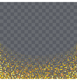 gold glitter particles on transparency background vector image vector image