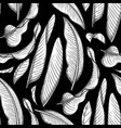 graphic heliconia pattern vector image