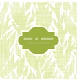 Green leaves textile texture frame seamless vector image