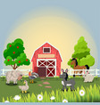 happy and cheerful farm animals vector image vector image
