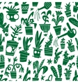 houseplants - seamless background vector image