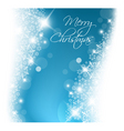 light blue abstract Christmas background vector image vector image