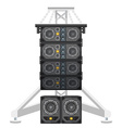 line array concert acoustics on truss suspension vector image vector image
