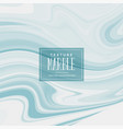 liquid marble texture in soft blue color vector image vector image
