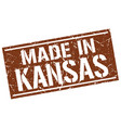 Made in kansas stamp vector image
