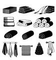 monochrome of different towels vector image
