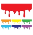 Paint Dripping Colorful Design Elements vector image