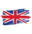 Painted British Flag vector image vector image