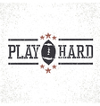 Play Hard American Football Stamp vector image