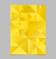polygonal golden abstract triangle poster vector image vector image