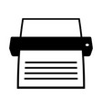 portable scanner and printer vector image vector image