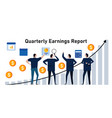 quarterly earnings report periodic financial vector image