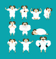 ram set poses and motion farm animal happy and vector image